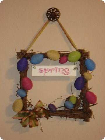 Spring Wreath, She Made it (2)