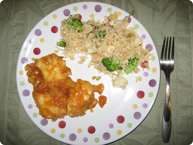 S&S Chicken and Fried Rice, She Made it Crafts